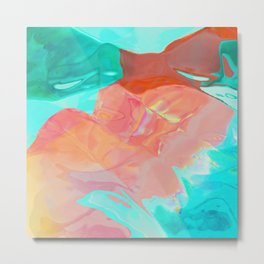 It is the red iridescent wave Metal Print