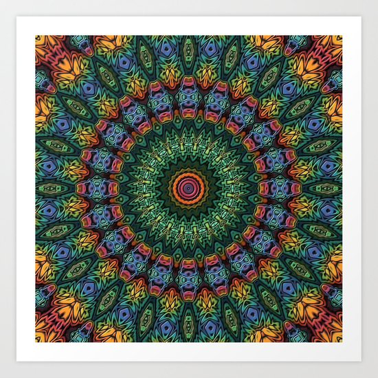 Polished Stone Mandala Art Print