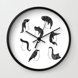 Hairnimals Wall Clock