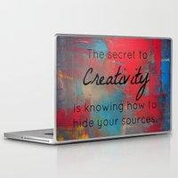 creativity Laptop & iPad Skins featuring Creativity by My Joie De Vivre