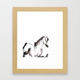 Watercolor Horse Painting Framed Art Print