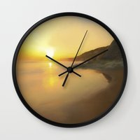 good morning Wall Clocks featuring Good Morning by Peaky40