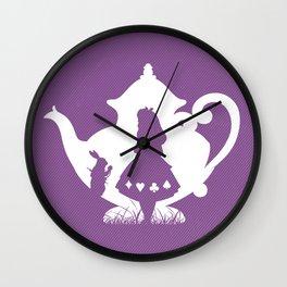 Alice in wonderland art film inspired Wall Clock