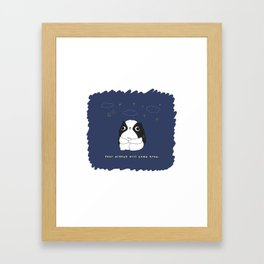 "Japanese chin Mochio ""STARRY SKY"" Framed Art Print"