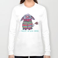 donkey Long Sleeve T-shirts featuring Donkey by Ruth Wels