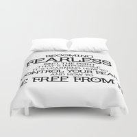 divergent Duvet Covers featuring BECOMING FEARLESS - Divergent by All Things M
