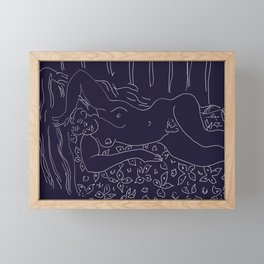 Matisse Line Art #8 Purple Framed Mini Art Print