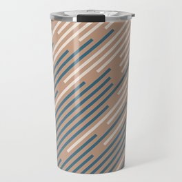 Sandstorm Beige Dark Blue Creamy Off White Lines 2021 Color of The Year Canyon Dusk Accent Shades Travel Mug