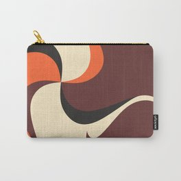 Retro Style 70s Wave Print Carry-All Pouch