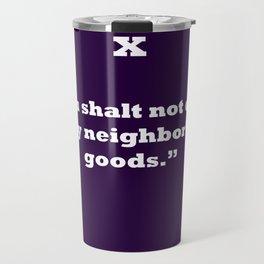 Ten Commandments...TEN Travel Mug
