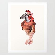 Donkey Rosario Art Print