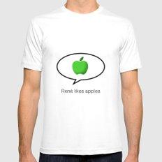 René likes apples Mens Fitted Tee White MEDIUM
