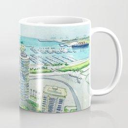 Aerial View of Downtown Long Beach Coffee Mug