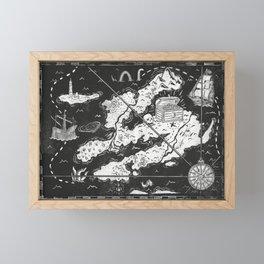 Treasure Map Framed Mini Art Print