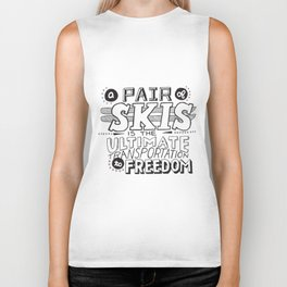 Pair of Skis Biker Tank