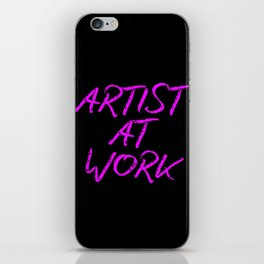 Artist at Work (pink) iPhone Skin