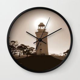 Midday over Lighthouse Wall Clock