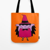 witch Tote Bags featuring Witch by Soju Shots