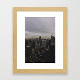 New York Gloomberg Framed Art Print