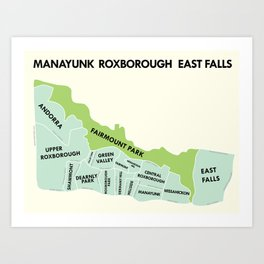 Manayunk, Philadelphia Version 2 Art Print