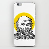 darwin iPhone & iPod Skins featuring St. Darwin by Kexit guys