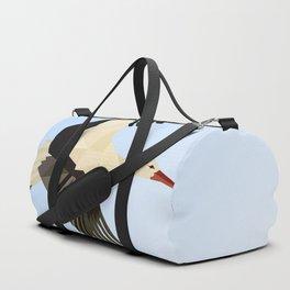 WHITE STROKE BIRD LOW POLY ART Duffle Bag