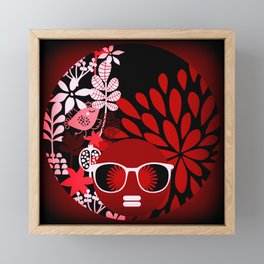 Afro Diva : Sophisticated Lady Red Framed Mini Art Print