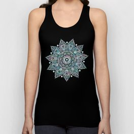 Mermaid Mandala on Deep Gray Unisex Tank Top