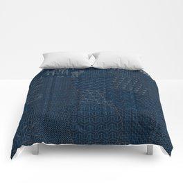 Sashiko - random sampler Comforters