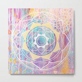 Mixed Media Mandala - Journey Metal Print
