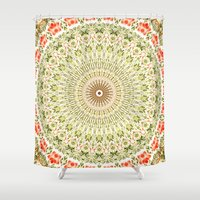 carnival Shower Curtains featuring Carnival by Jane Lacey Smith