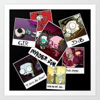invader zim Art Prints featuring Invader Zim Photo Collage by kltj11