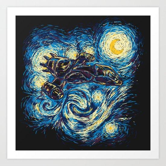 Starry Flight (Serenity) Art Print