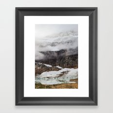 Mount Edith Cavell and Cavell Pond Framed Art Print