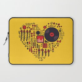 Music in every heartbeat Laptop Sleeve