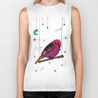 birdy Biker Tanks featuring Birdy by Gwladys R.