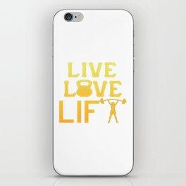 LIVE - LOVE - LIFT like a Girl iPhone Skin