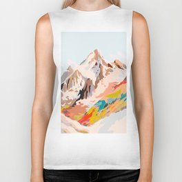 glass mountains Biker Tank