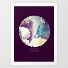 up to Space!  Art Print