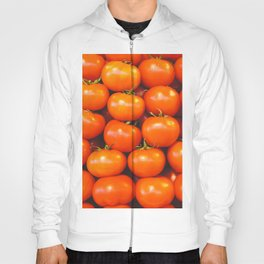 Tomatoes fruit in lines from Italy market - Vintage fruit photo Hoody