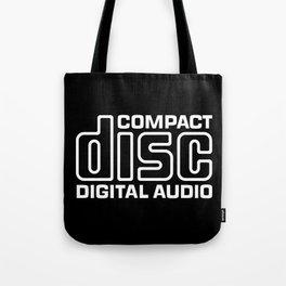 Compact Disk Digital Audio Logo - White Tote Bag