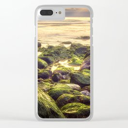 Gold n Green Clear iPhone Case