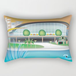 Adelaide, Australia - Skyline Illustration by Loose Petals Rectangular Pillow