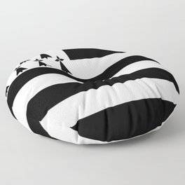 Flag of brittany Floor Pillow