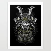 samurai Art Prints featuring Samurai by Brewer Arts