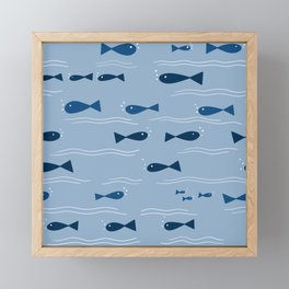 Squishy Fishies Framed Mini Art Print
