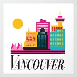 Vancouver Coal Harbour Art Print