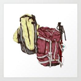 Backpack Adventures Art Print