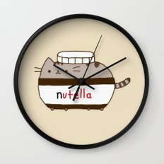 Nutella Cat Wall Clock