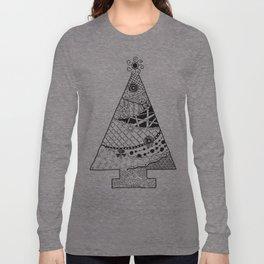 Doodle Christmas Tree Long Sleeve T-shirt